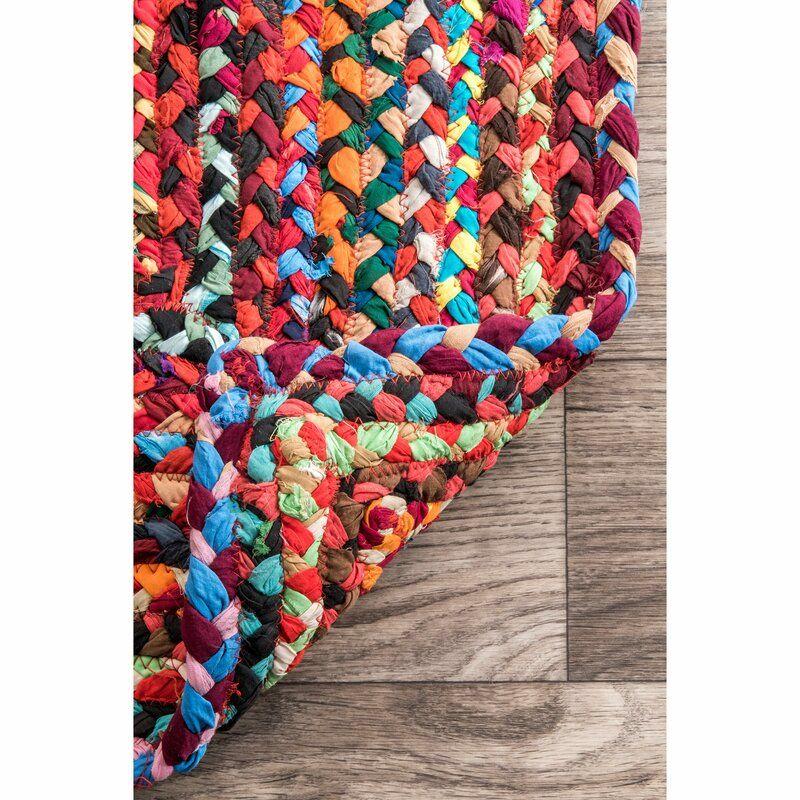 Zipcode Design Waterford Handmade Braided Cotton Multicolor Area Rug Reviews Wayfair Rag Rugs Colorful Diy