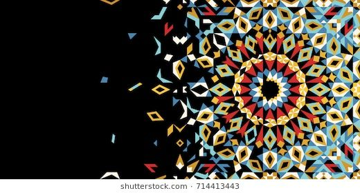 morocco disintegration template islamic mosaic design abstract background business card invitation