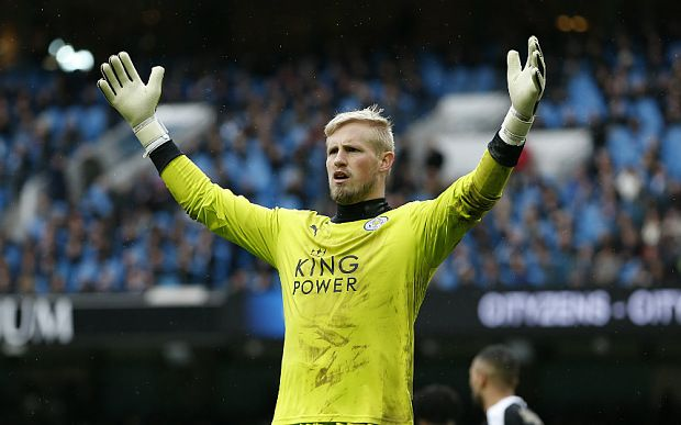 Leicester's Kasper Schmeichel sticks to Claudio Ranieri's humble party line as title bid gets real