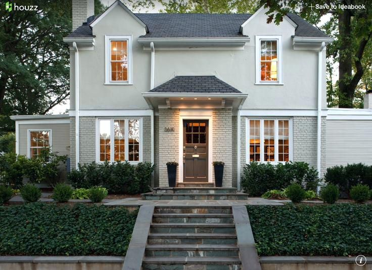 Light Grey Exterior Paint House Color Warm And White Dove