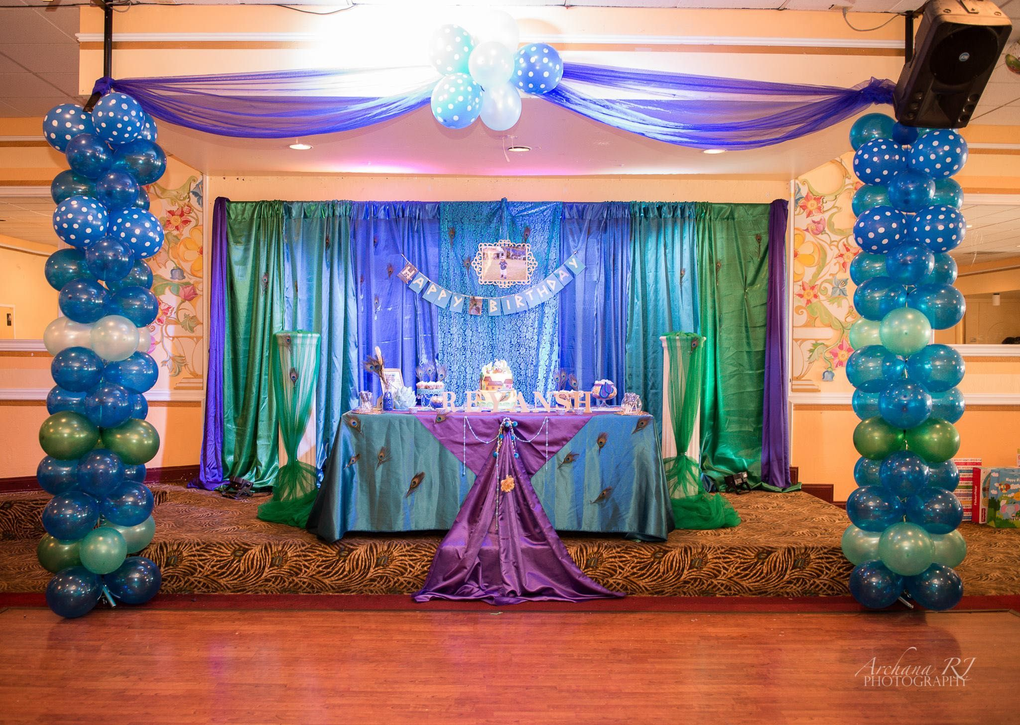 Superb Peacock Themed Decoration Ideas Part - 5: Krishna Theme Backdrop · Krishna BirthdayTheme IdeasPeacockPeacock ...