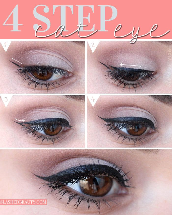 How To Do Easy Cat Eye Liner In 4 Steps
