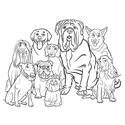 Free Printable Dogs And Puppies Coloring Pages For Kids Crafts