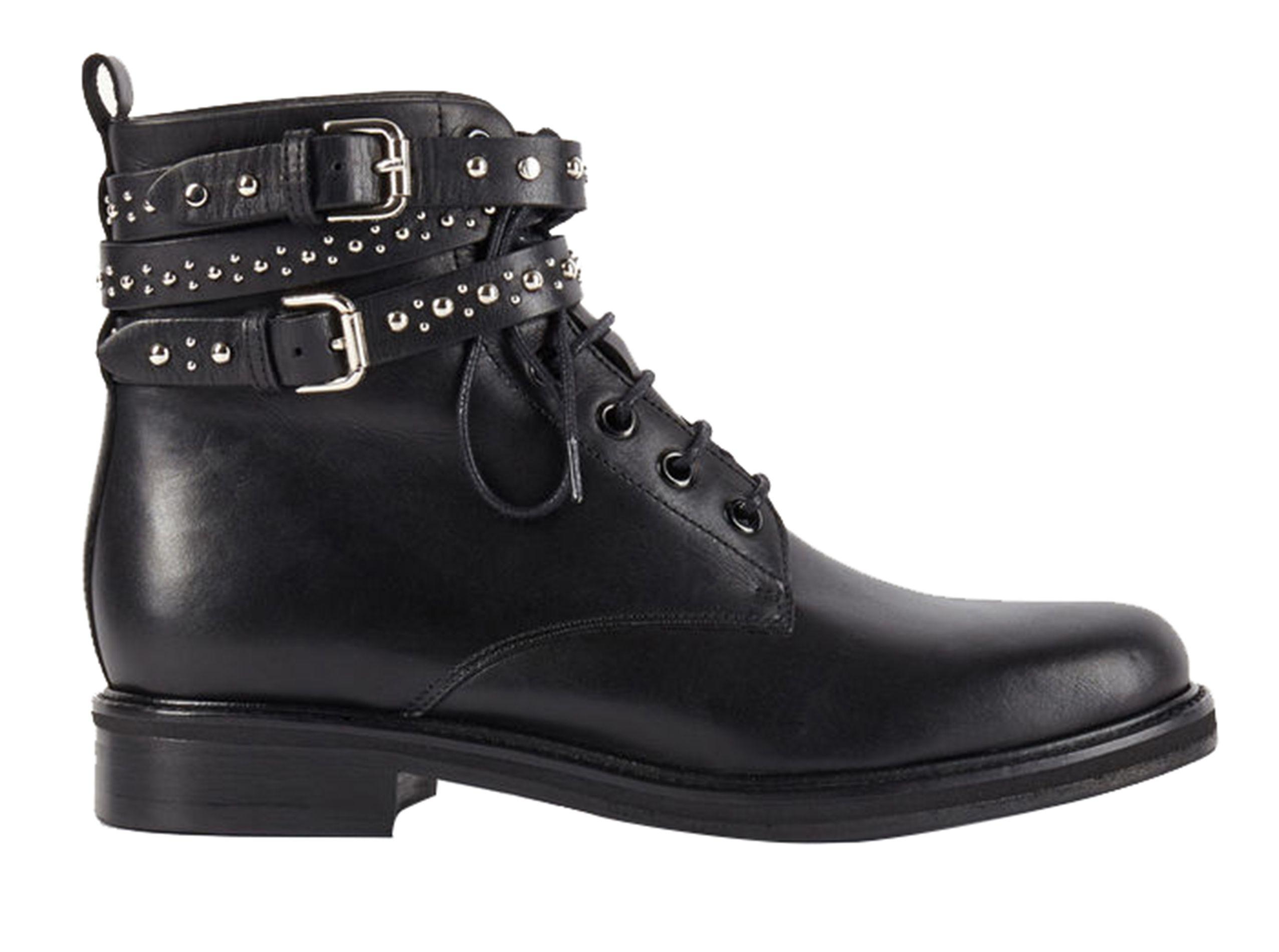 bottines À lacets flint noir maje - eboutique femme | place des