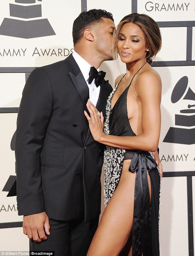 Her Valentine! Ciara's beau gave the star a tender peck on the cheek