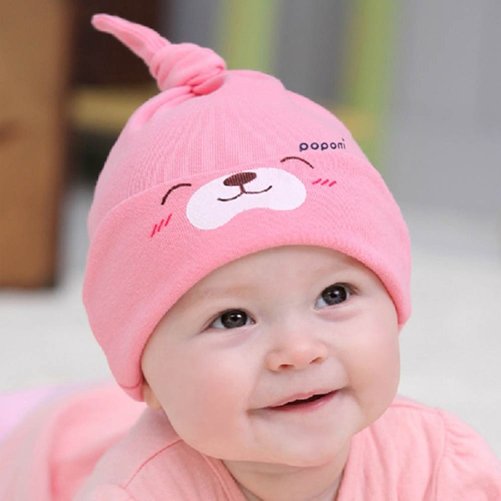 61133d611721 New Comfort Cartoon Baby Toddlers Cotton Sleep Hats Caps Headwear ...