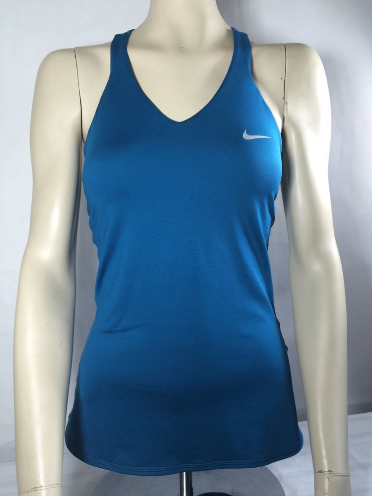 Nike Womens Black DriFIT Racerback Tank Running Yoga Shirt