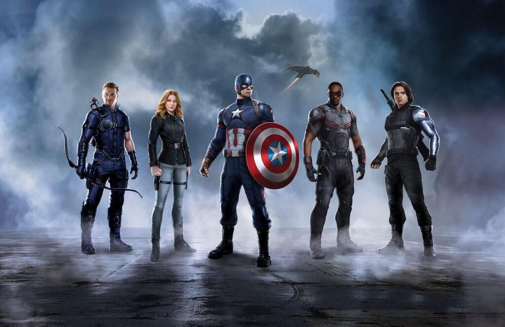 CIVIL WAR PROMO ART RELEASED!!!!!! Hawkeye has a new suit? Oh my gosh it's Sharon  Carter !!!