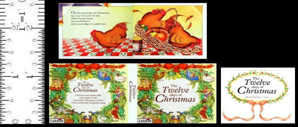 1:6 SCALE MINIATURE BOOK THE TWELVE DAYS OF CHRISTMAS PLAYSCALE