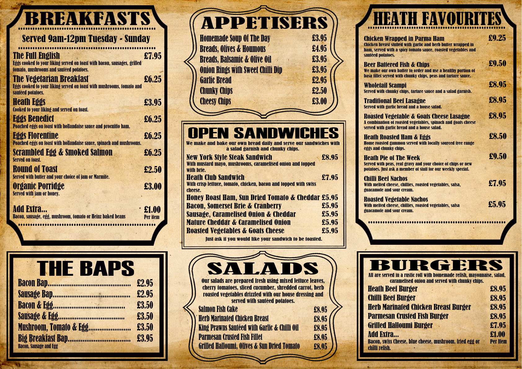 This Menu Employs A Good Use Of Typography Due To Color Contrast The Dark Letters Easily Stand Out From The Br Einfach Zeichnen Speisekarte Restaurant Einfach