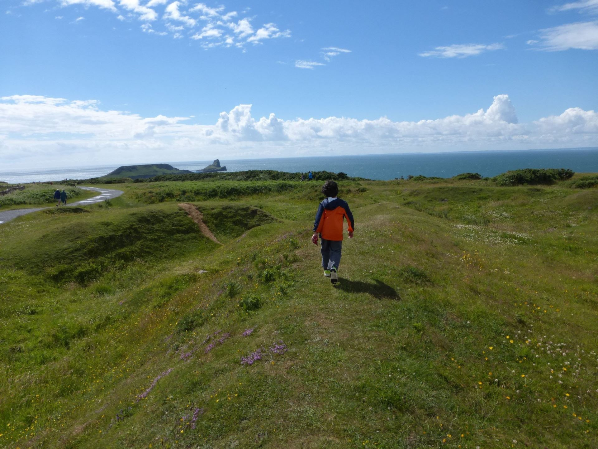 """Along the the Gower Peninsula, take a stroll all the way out to """"The Worms Head,"""" named for its rese... - Samantha Feuss/MCT/MCT"""