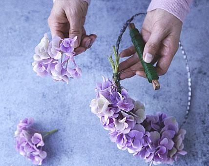 adventskranz selber machen 4 ideen traum in violett. Black Bedroom Furniture Sets. Home Design Ideas