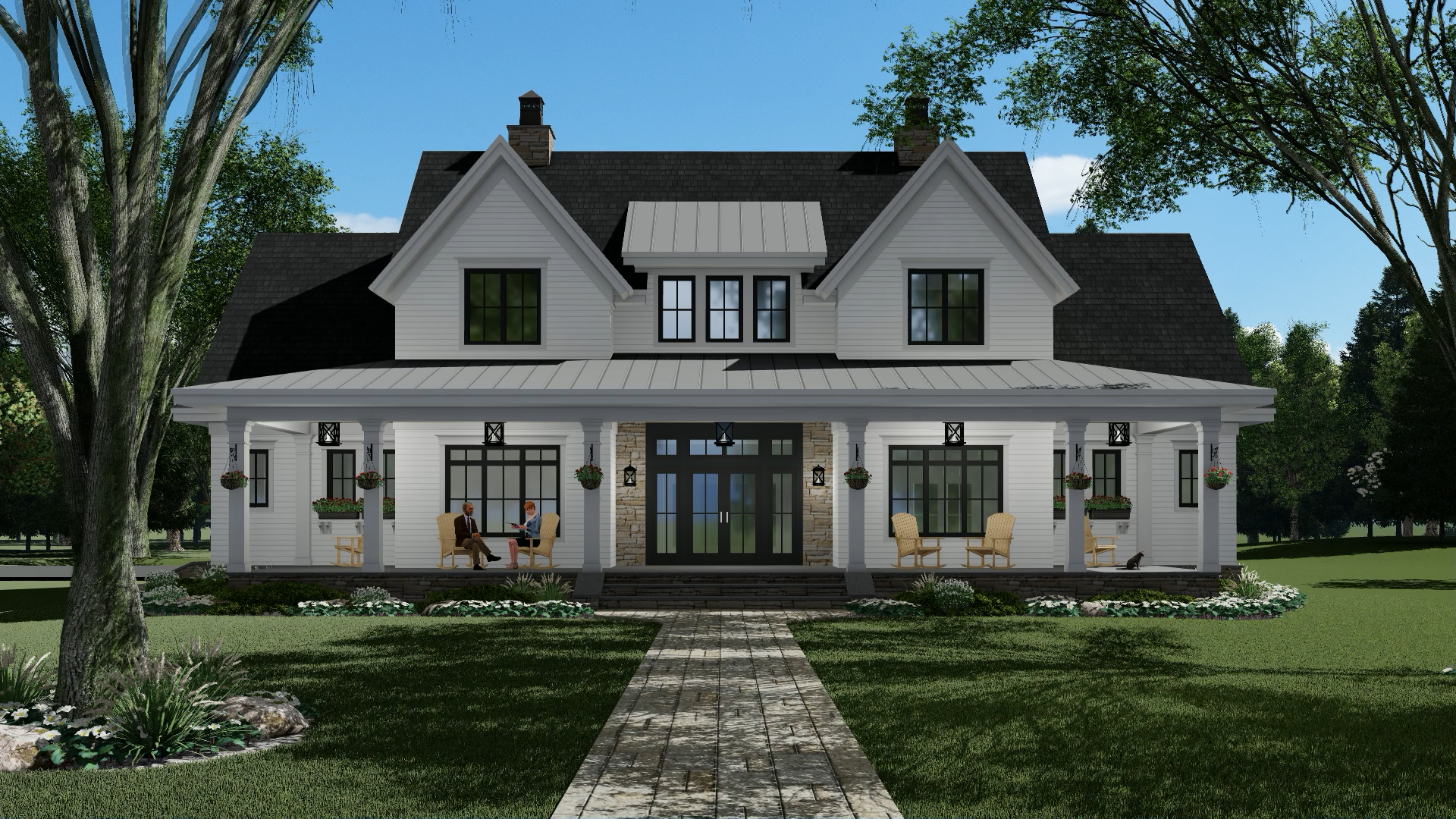 Silverbell Ranch Modern farmhouse plan 2743 sq ft with 4 bedrooms and 4 baths
