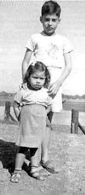 Freddie and his sister.