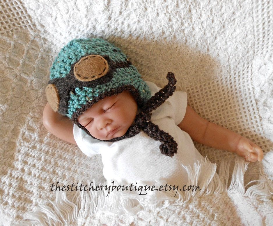 d512c7fd6c6 Baby aviator hat and goggles newborn boy by TheStitcheryBoutique ...
