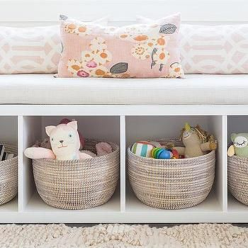 Alyssa Rosenheck Freestanding Nursery Storage Bench Window Seat