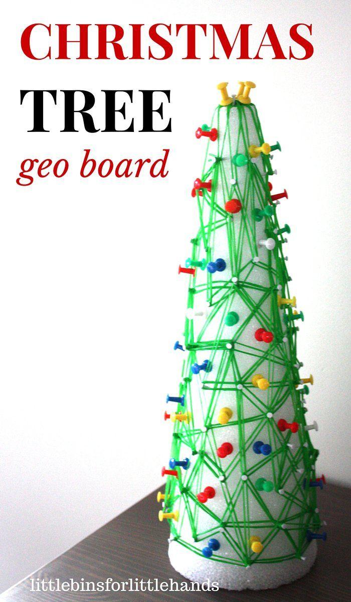 Christmas Tree Geo Board Fine Motor Math STEM Activity | Trees ...