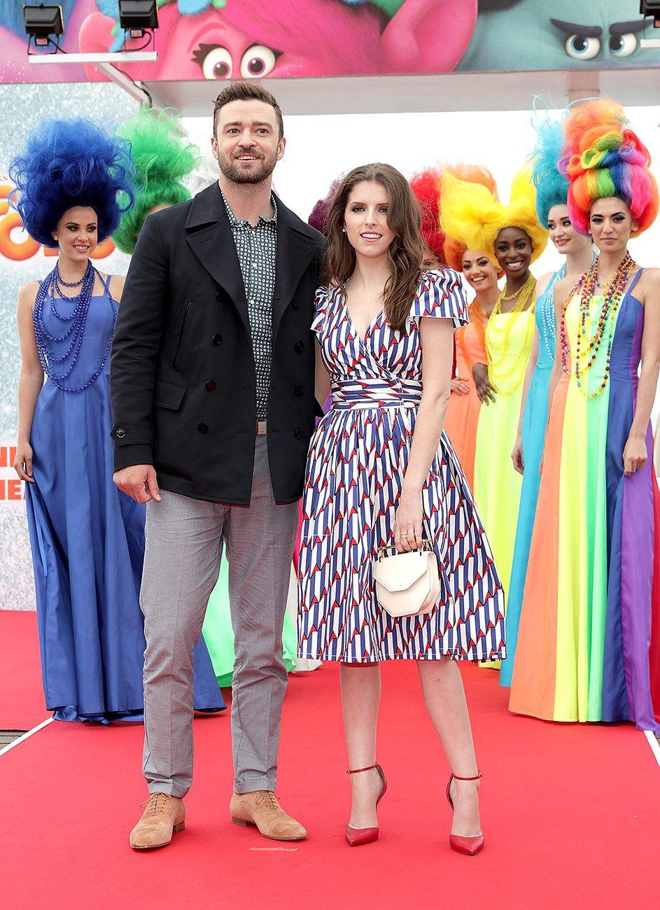 Justin Timberlake y Anna Kendrick en la presentaci�n de 'Trolls'