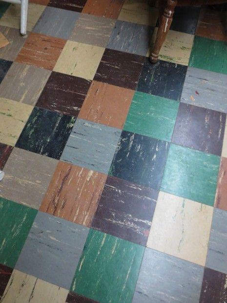 Patchwork Vinyl Floor Retro My Childhood Memories Pretty House