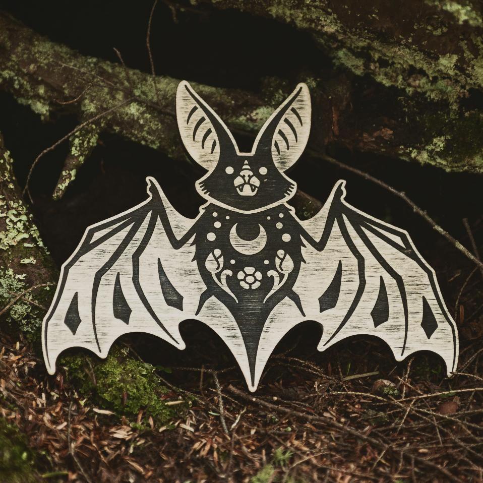 The Bat Ornament Bats Wooden Ornaments Ornaments Tattoo Artists