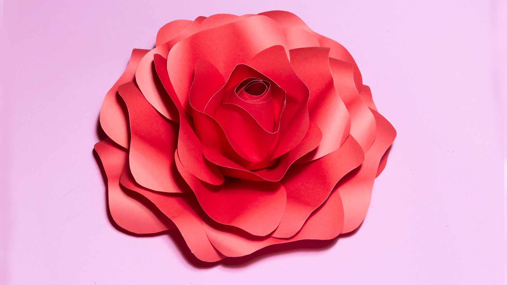 How To Make A Realistic Large Rose Flower Easy Tutorial To Make A