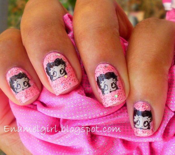 Betty Boop Nails: Betty Boop Nails Nail-art