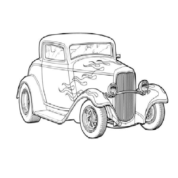 Street Rod Cars Coloring Pages Air Brush Painting Dream Catcher Tattoo Design