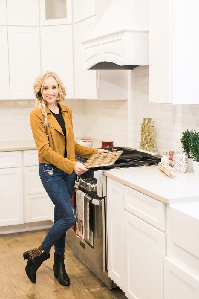a68f91b2d98c Nastia Liukin wears the Harding boot by Naturalizer for her holiday party  at home. Learn more at blog.naturalizer.com!