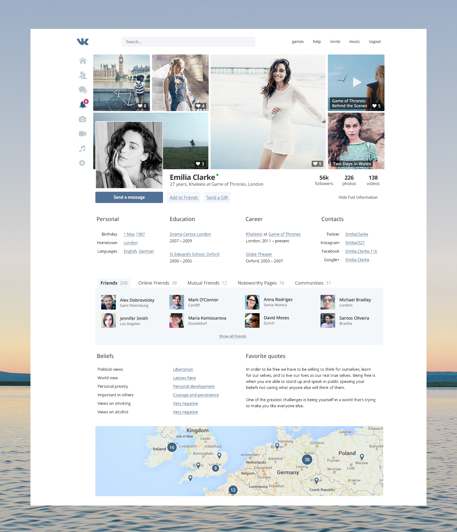 01profile Full Png By Kyril Web Graphic Design Web Design Social Network