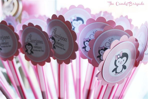 Superior Penguin Baby Shower   Candy Table By The Candy Brigade