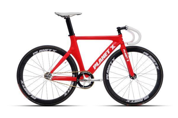 Planet X Pro Carbon Track Bike In Red Track Bike Urban Bike