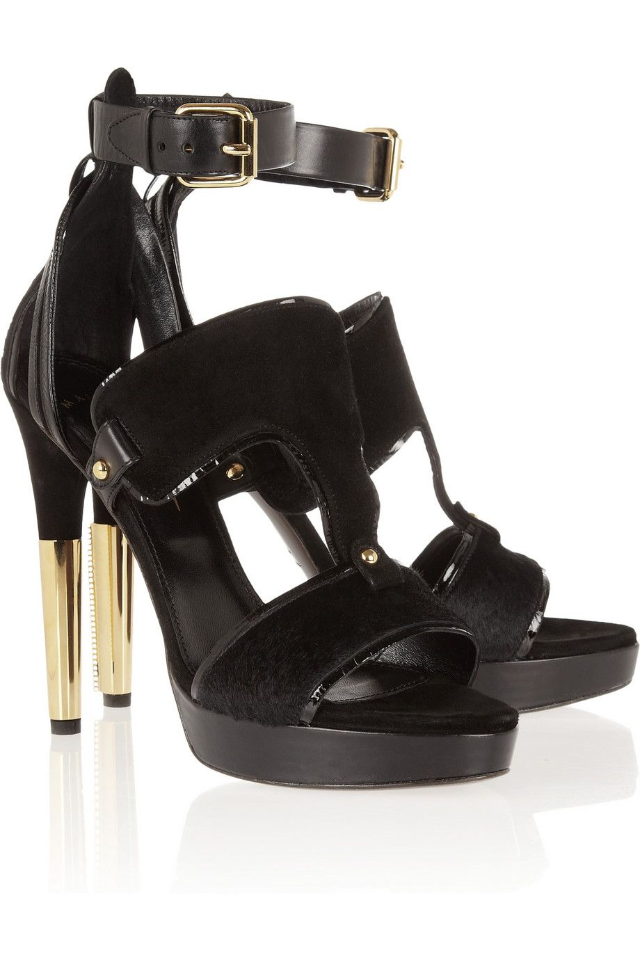 Maiyet | Suede and calf hair sandals | NET A PORTER.COM