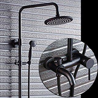 SAEJJDusche Wasserhahn kupfer, bronze, schwarze dusche