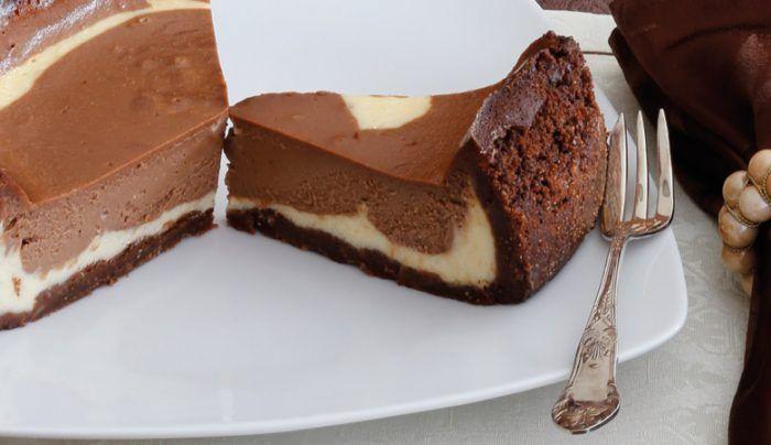 schokoladen kaesekuchen fuer den thermomix2   Kuchen, Rezepte, Schokolade