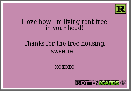 Image result for thanks for the free rent