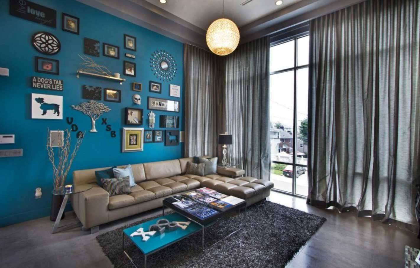 10 Teal And Brown Living Room Ideas 2019 The Riveting Pair In 2020 Blue Walls Living Room Blue Living Room Accent Walls In Living Room #teal #and #brown #living #room #decorating #ideas