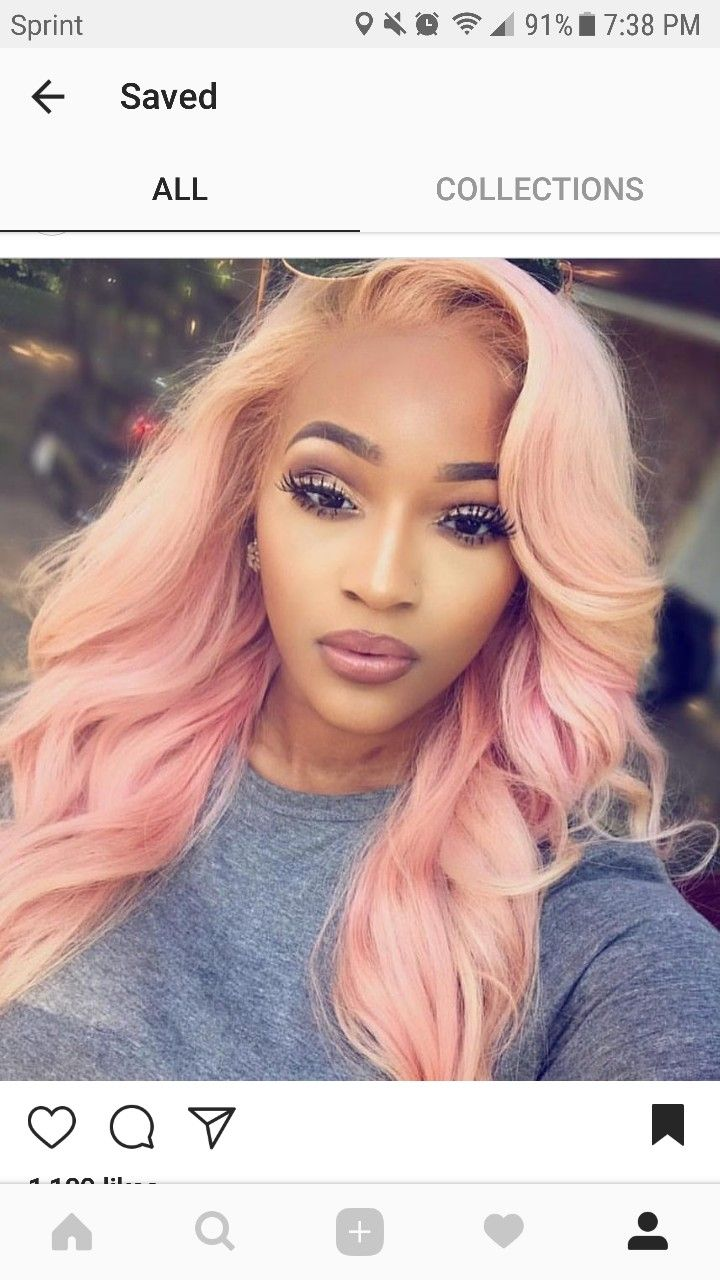 Beautiful Pink Sew In Hairstyles With Color In 2019