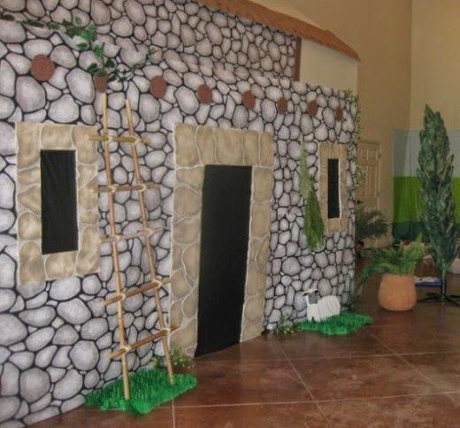 Exploring Biblical Places and Times: Make a Rock Wall With Printed Paper or Plastic Party Rolls