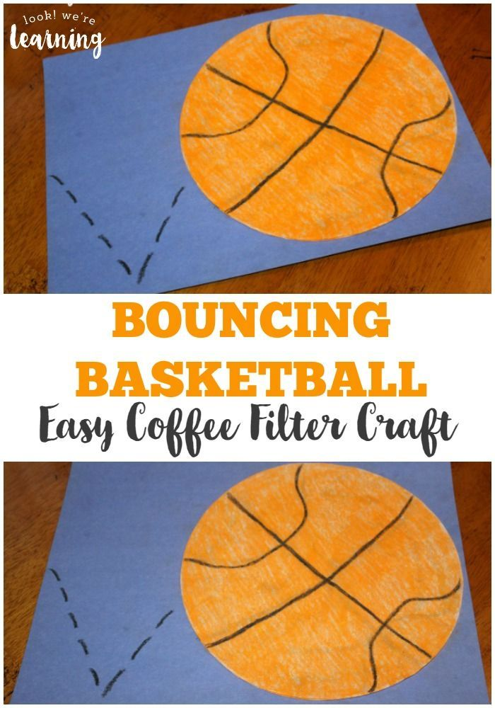 Simple Bouncing Basketball Coffee Filter Craft For Kids