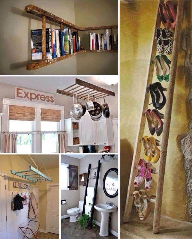 Amazing And Creative Refurbishing Ideas Old Ladder Old Wood