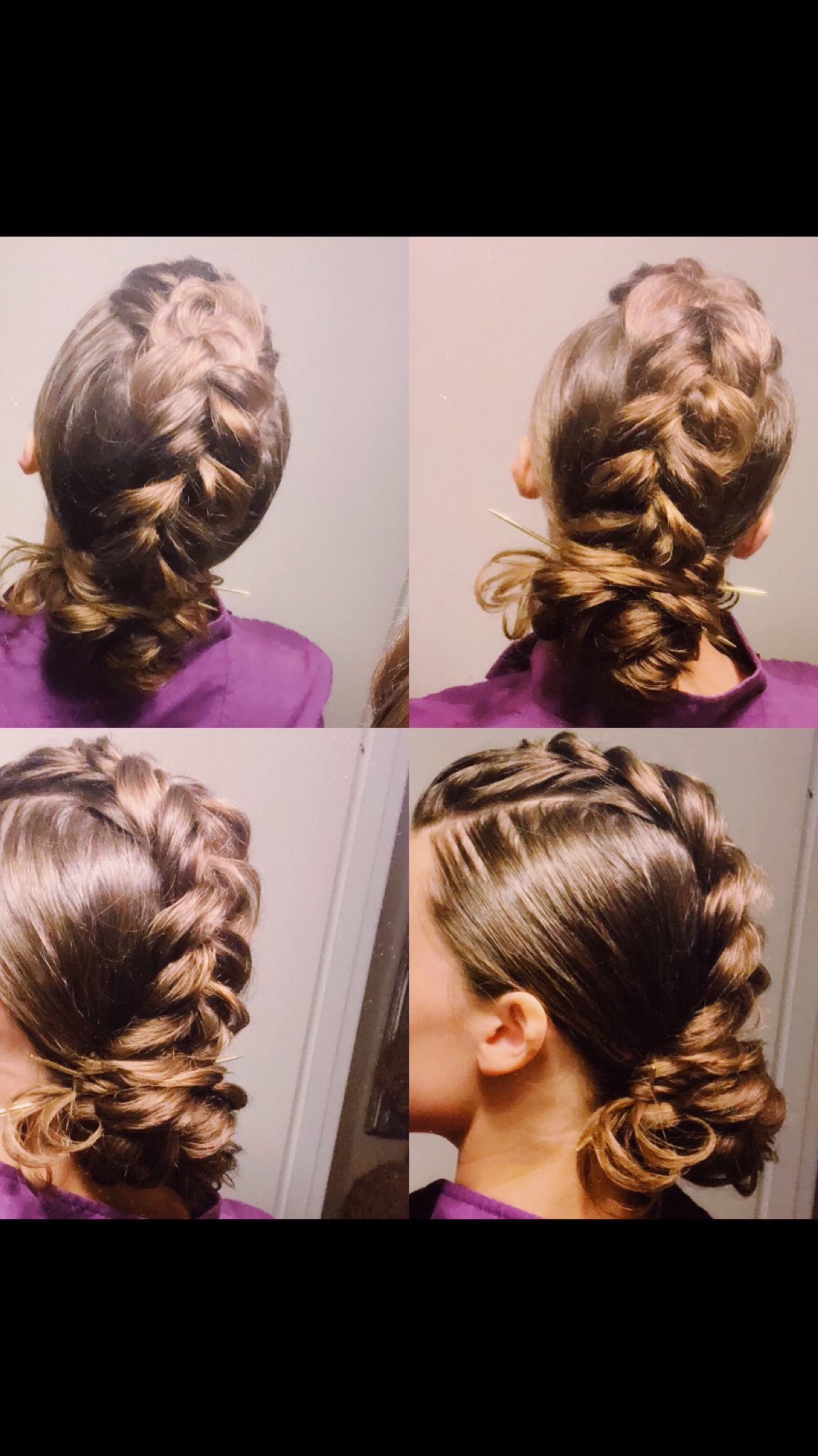 Dutch braid mohawk updo different kind of braids in
