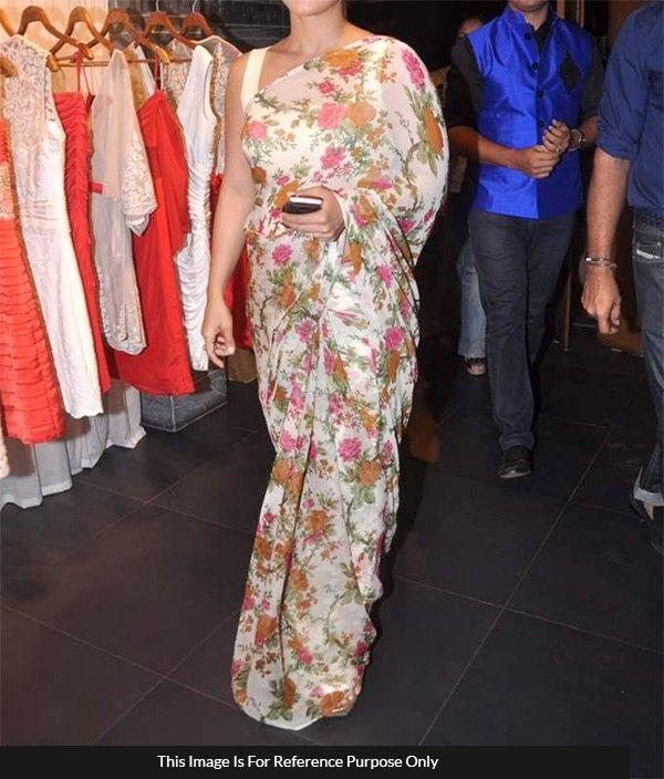 3b455c6f5e Georgette Multicolour Floral Print Saree 265 Gorgeous sarees et