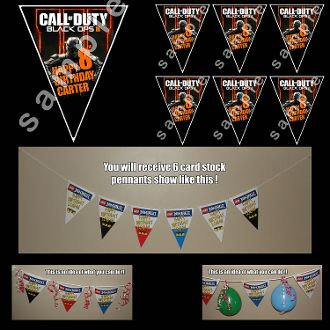 Call of duty black ops3 triangle pennants only 1500 call of duty 6 triangle birthday banner or birthday party pennant find this pin and more on call of duty black ops filmwisefo Image collections