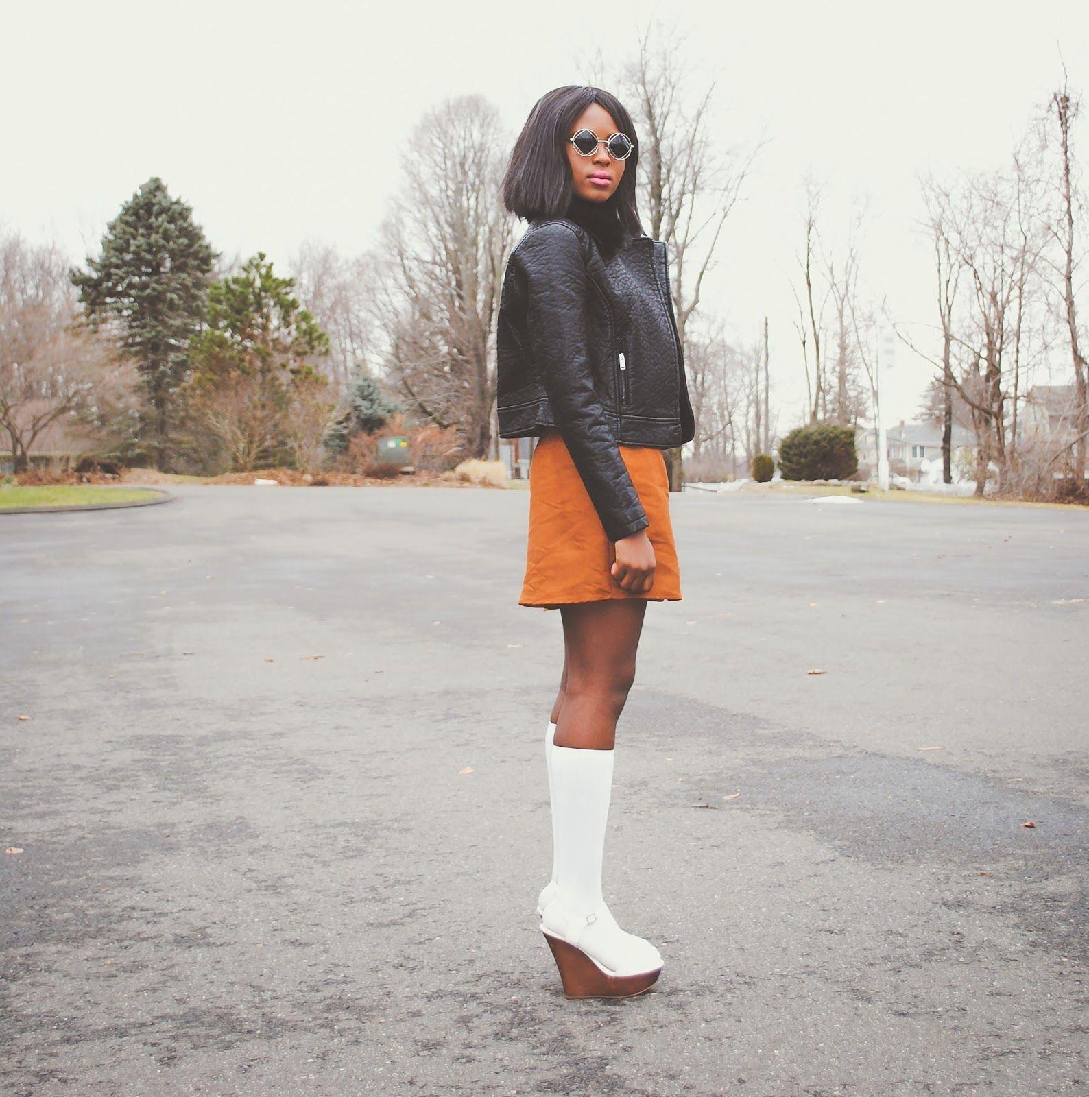 Tan Suede Skirt - I spy oby