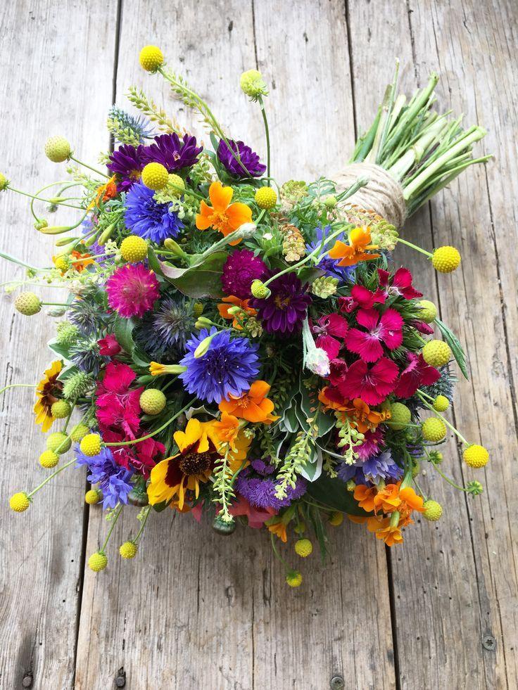 Brautstrauß Sommer, bunt, Hochzeit, Blumen, colourful Bouquet - Ideen Blog #flowerbouquetwedding