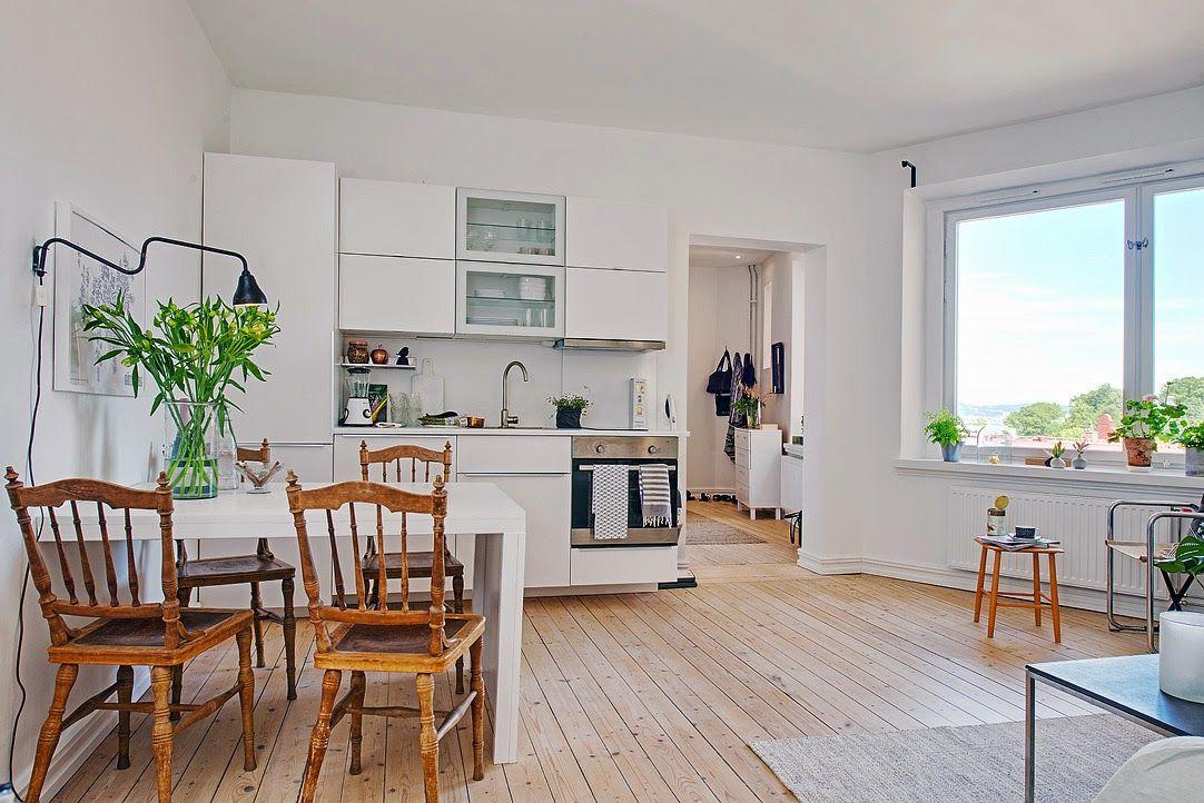 Rincon mesa blanca y sill madera | Deco | Pinterest | Me gustas ...