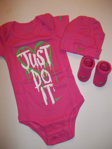 NIKE BABY GIRL CLOTHES LOT HAT SOCKS CRIB SHOES 0 6 MONTHS  d0b1ab86f