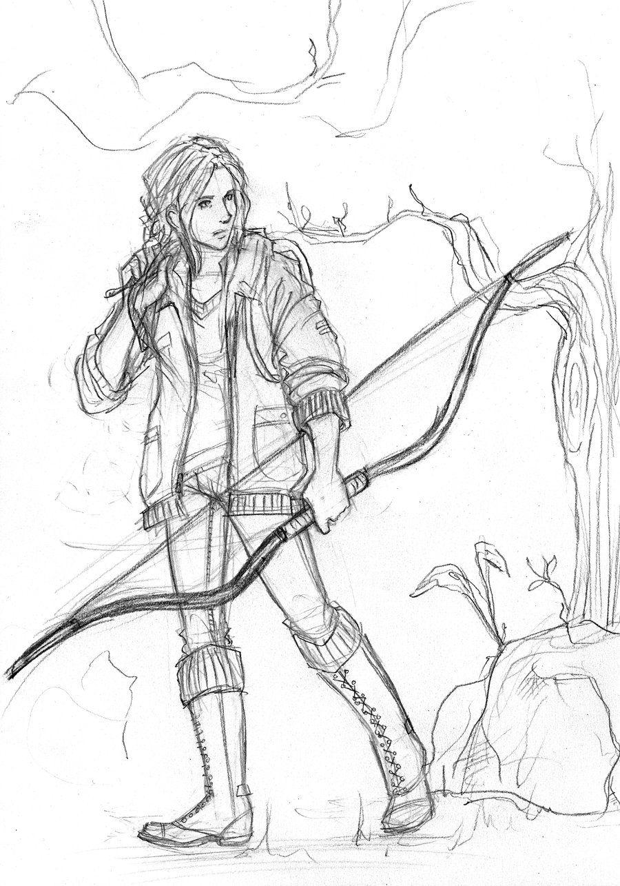 The Hunger Games Katniss Everdeen by Catching Smokedeviantart