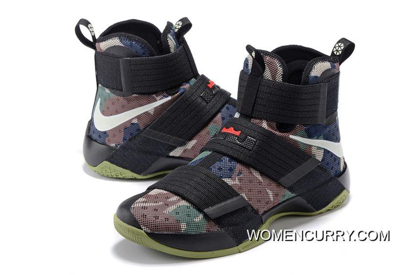 182db2096341 Nike LeBron Soldier 10 SFG Camo Black Bamboo-Medium Olive Best ...