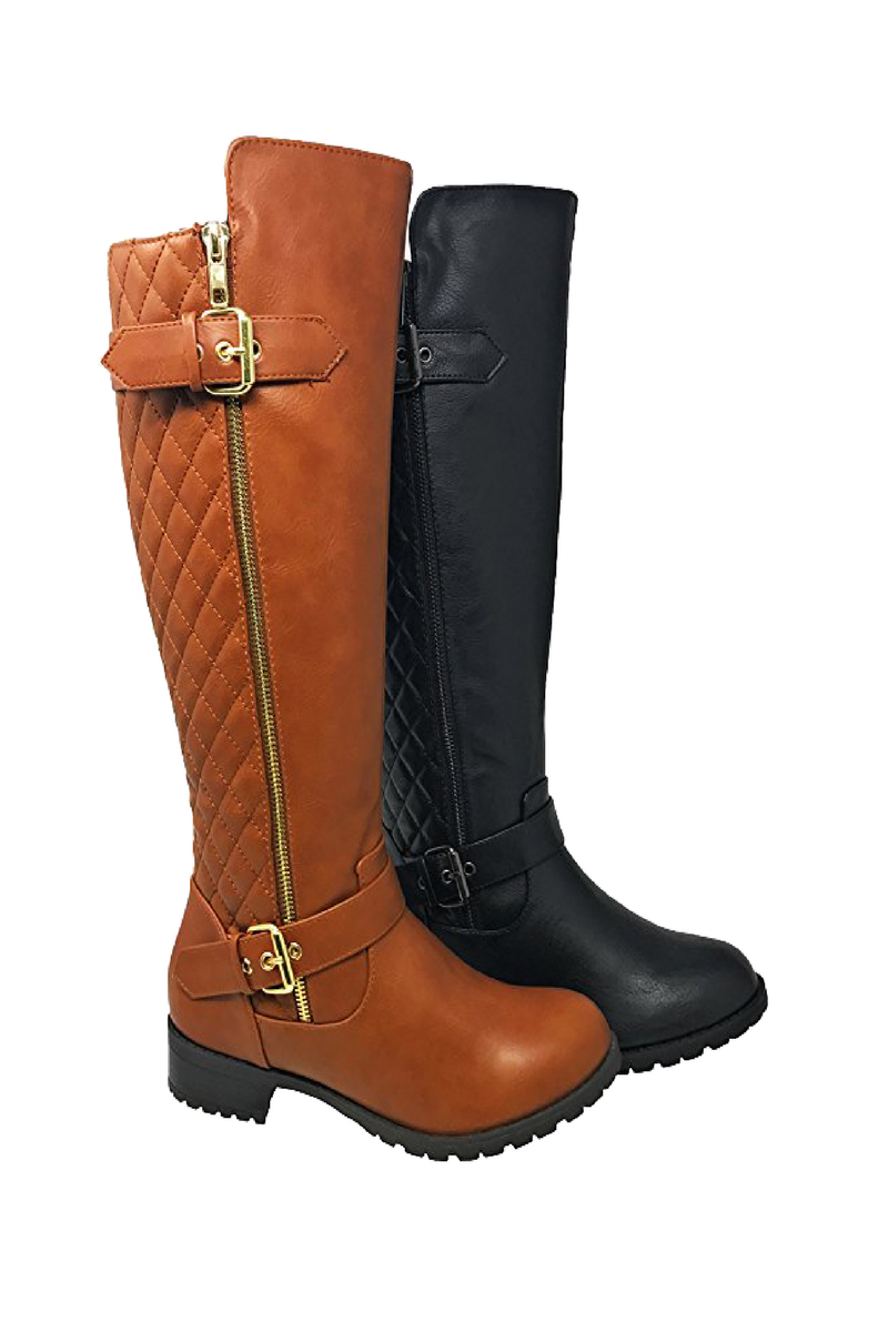 a73d21c23181 Stylish Riding Knee High Riding Boots. Tan or black riding boots to wear  for any occasion. Budget and affordable. Buckle and zip details.